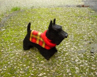 dog Scottish terrier, decorative felt