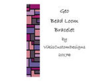 Geo Bead Loom Bracelet Pattern by VikisCustomDesigns