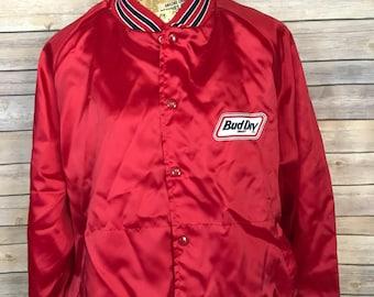 Vintage Budweiser Bud Dry Draft Satin Jacket (XXL)
