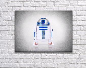 Star Wars R2D2 wall print, Star Wars, boys room decor, kids room decor, Star wars prints, Star wars decor, Star wars Art, R2D2 poster