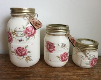 Rose & Bee Kilner jars