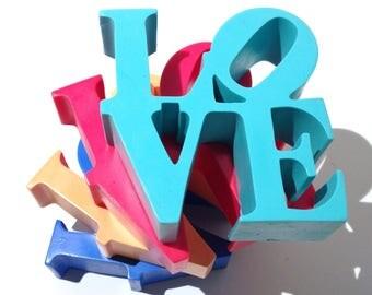 Handmade Philadelphia NYC Love Sign Cake Topper