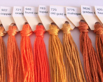Embroidery floss set, cross stitch thread, embroidery thread, 10 skeins, 3 m/3.28 yd each color, Peruvian cotton thread, set hilos bordar *4