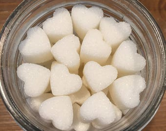 Heart Shaped Sugar Cubes for Coffee, Tea, Hot Chocolate, Tea Party, High Tea, Tea Gifts, Coffee Gifts, Weddings, Bridal Showers and Birthday