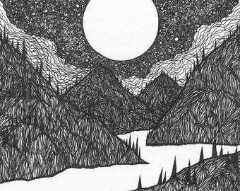 """Lucas Allen Cook """"Night Mountains"""""""