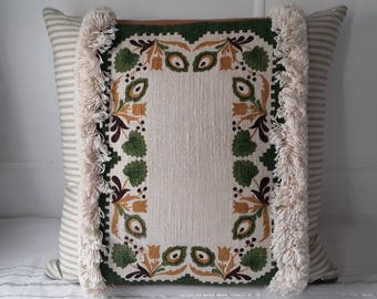 Cushion/Pillow made from vintage fabric.