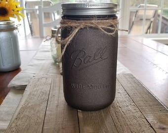 Oil Rubbed Bronze Mason Jar Powder Coated