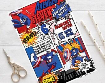 superhero invitation, Avengers Invite, Avengers Invitation, Superhero Invitation, Superhero Invite, Superhero Avengers Invitation, Avengers
