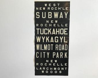 New York City Vintage Bus Scroll 1950's #1