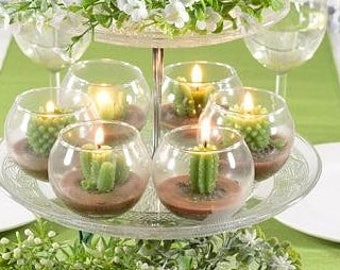 Bomboniere  Favours  Candles  Wedding favours  Birthday favours  Special day  Cactus candles