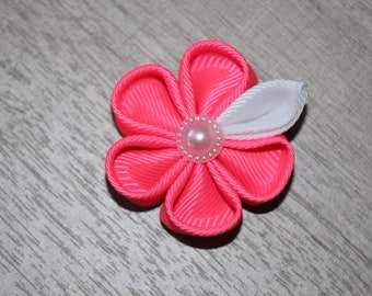 Pink Lapel Pin, Mens Lapel Pin, Lapel Flower, Boutonniere, Men's Accessory, Floral Lapel Pin, Mens Gift, Groomsmen Gift, Kanzashi pin flower