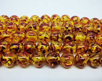 Synthetic Amber Beads Bracelets Beads Necklace Beads for Jewelry Making DIY Jewelry Earring Making Bracelet Making Beads for Bracelets