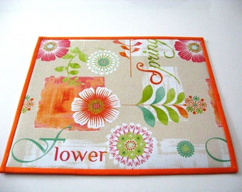 A set of 6 place mats Sun flowers