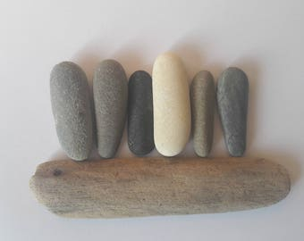 6 French sticks form pebbles / stones