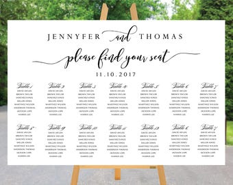 PRINTABLE Wedding Seating Chart, Wedding Seating Chart, Wedding seating template, Navy seating chart, Seating chart, Find Your Seat SC69