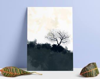 Contemporary art, Conterporary Wall Art, Watercolor Art, Watercolor Painting, Modern Art, Scandinavian Modern, Tree of life, Minimalist Art,