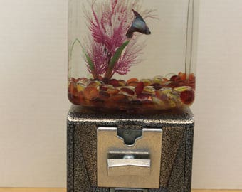 Vintage Gum Ball Machine Fish Tank  II