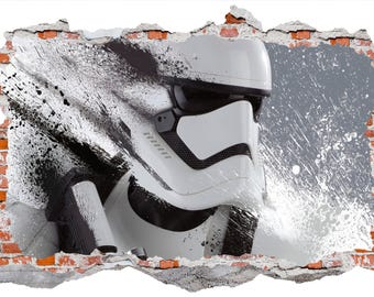 Stormtrooper Smashed Wall Sticker Wall Decal Wall Mural