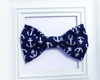 Anchor Bow Tie, Nautical Bow Tie, Navy Bow Ties, Toddler Bow Tie, Nautical Wedding, Beach Bowtie, Beach Wedding, Summer Bow tie, Baby Boy