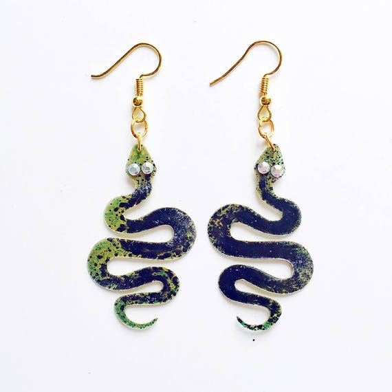 Snakes earrings - Animals jewelry - Snake earrings - Serpentes earrings - Reptiles earrings - Gift for her - Fashion earrings - Cute ideas