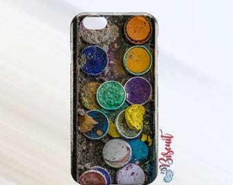 Paint Palette Phone Case -Matte Finish- iPhone 7/7 Plus/iPhone 6/6 Plus/iPhone 6s/6s Plus/Samsung S8/S8 Plus/Samsung S7/S7 Plus/S7 Edge
