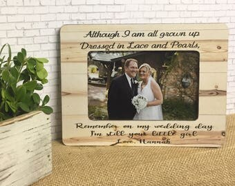 Father Of The Bride Personalized Frame- Gift For Dad- Parents Of The Bride Personalized Frame- 5x7 Frame- 4x6 Frame- Wedding Frame- Dad