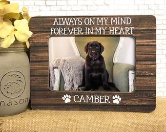 Pet Loss  Personalized Pet Loss Frame  Pet Loss Gift Idea  Remembrance Frame  Dog Loss  Cat Loss  Memorial Frame  Personalized Dog Cat Pet