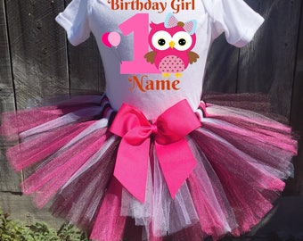 Owl Birthday Outfit, Owl First Birthday Outfit, 1st Birthday Tutu, 2nd Birthday Tutu, Owl Birthday Tutu, Baby Owl Birthday Outfit, Owl Tutu