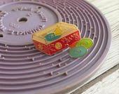 Vintage Pin Club - Record Player Toy Enamel Pin Badge