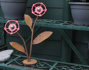 Scrap Metal Flowers