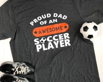 Soccer Dad Shirt, soccer coach gift, Soccer Mom Shirt, Proud Dad Shirt, Dad soccer Shirt, Custom Soccer Shirt, Vinyl Shirt, Team Mom gift