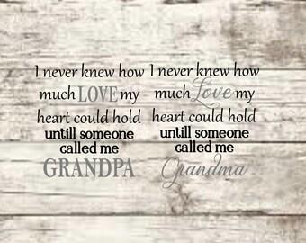 Grandma & Grandpa SVG NEW