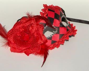 Red glamorous mask