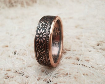 Coin Ring Japanese Bronze Jewelry