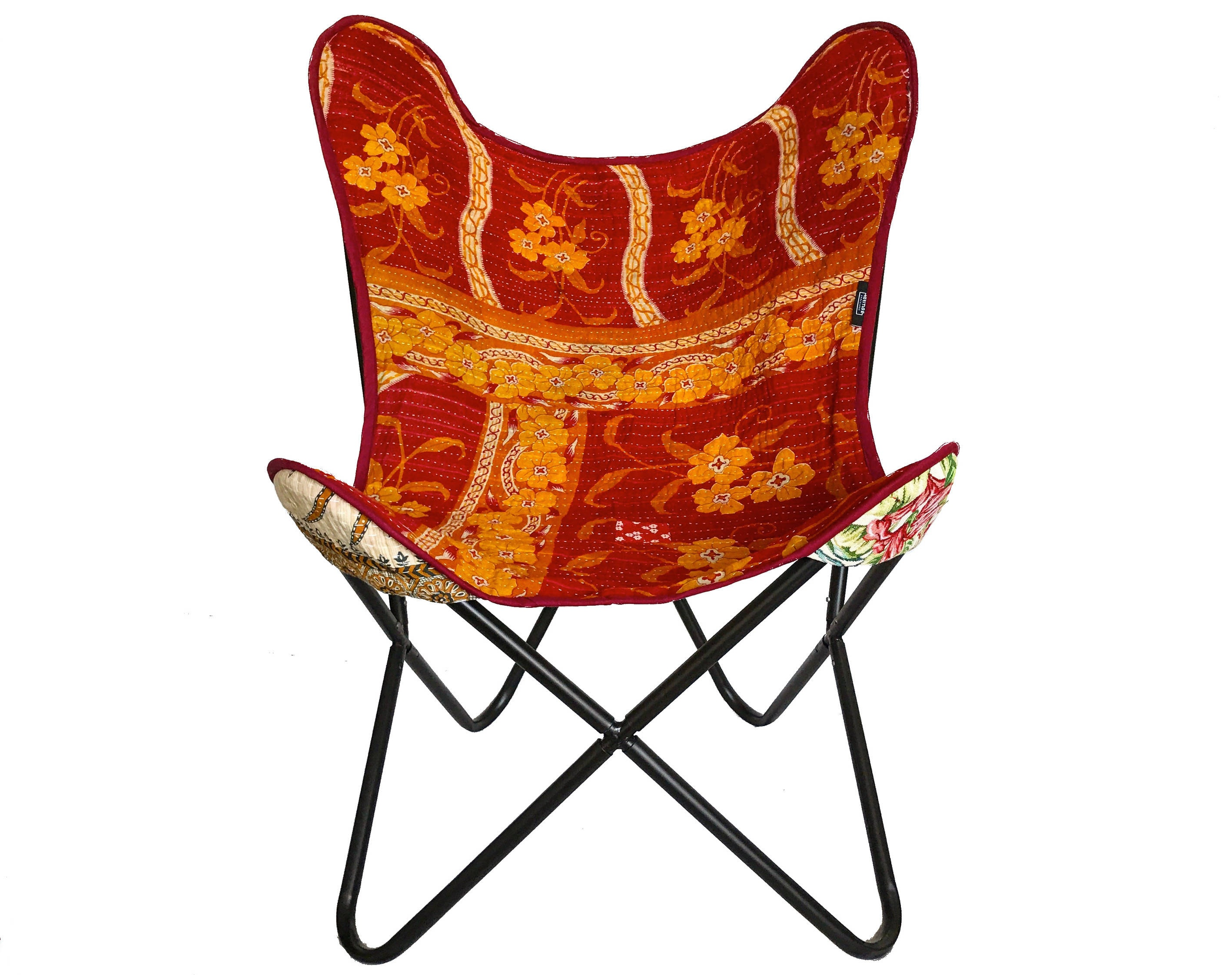 Butterfly Chair   Boho Chair Handmade With Indian Vintage Fabrics    One Of A Kind Fabric Is Used For Manufacturing The Covers