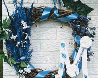 """Letter """"M"""" Home decoration  Wreath"""