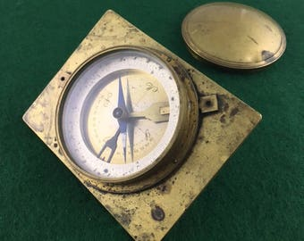 Antique Geological Or Mining Compass and Clinometer Made In Germany