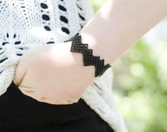 Women Gift for Girlfriend Gift Idea|for Her|Heart Jewelry Beaded Bracelet Hearts Bracelet Romantic Gift under 30 Black Bracelet|for|Girls