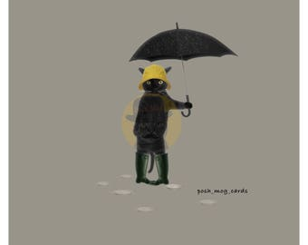 Greeting Card 'Rain Rain Go Away'