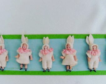 Antique Hertwig&Co. Pattern Card Bunnies