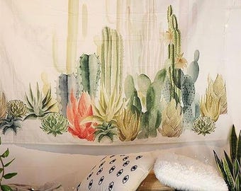 Cactus Wall Hanging Tapestry Room Decor Tapestry 150x150 CM