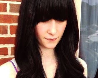 Black Wig w/ Bangs