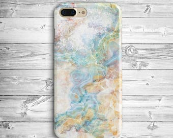 Gold Marble iPhone 7 Plus Case iPhone 6 7 Plastic Case iPhone SE Blue Marble Case Samsung Galaxy S5 S6 S7 Edge Blue Gold Glass Marble Case