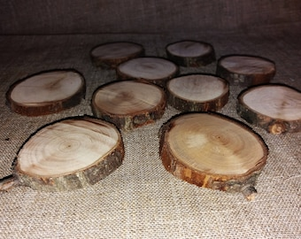 Pear Wood Slices, Rustic Tree, Branch Slices, Wooden Slices for Craft, Natural Coasters, Wedding Decor, Slabs, Wood Pieces, Pear Tree, DIY
