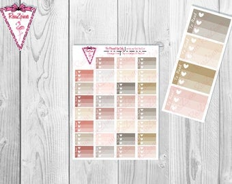 Printable To Read Half Box Checklists - Neutral Colors