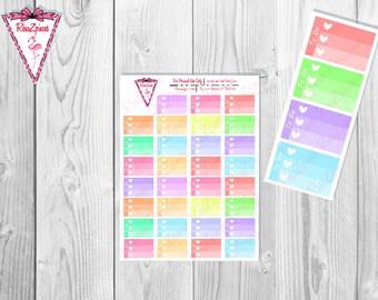 Printable To Do Half Box Checklists - Soft Colors