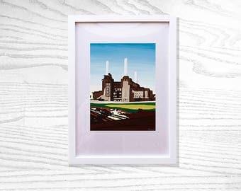 Limited Edition Battersea Power Station Fine Art Print