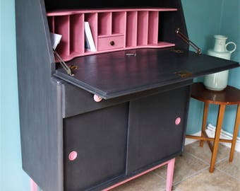 Upcycled Mid-Century Bureau Writing Desk