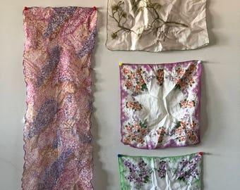 Bundle Linen and Nylon Vintage Hankerchiefs