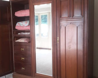 Large stunning 19th C Mahogany Triple wardrobe